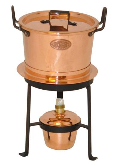 fondue aus kupfer mit schmiedeeisernem st nder coppergarden kupfertopf ebay. Black Bedroom Furniture Sets. Home Design Ideas